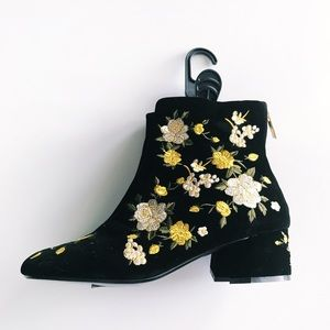 Topshop blossom booties